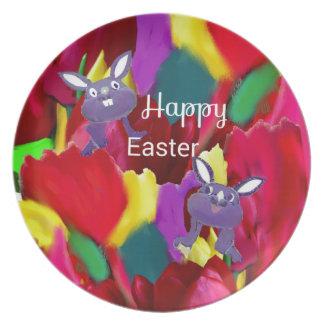 Ostern-Kaninchen Teller