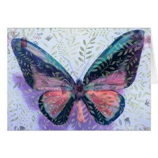 Ostern-Karte mit Schmetterlings-Garten-Fantasie Karte