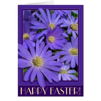 Ostern-Karten-blaue Blumen-kundenspezifische Gruß-