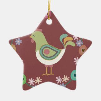 Ostern Keramik Stern-Ornament