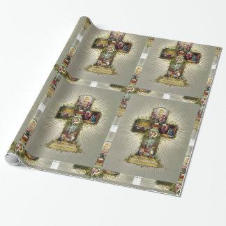 Ostern-Kreuz Geschenkpapierrolle