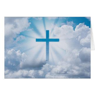 Ostern-Kreuz im Himmel Karte