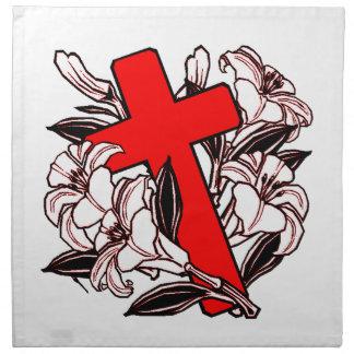Ostern-Kreuz Stoffserviette