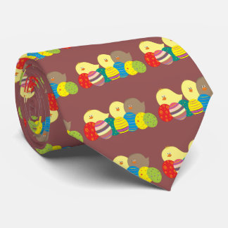 Ostern-Küken-Cartoon-niedliche bunte verzierte Personalisierte Krawatten