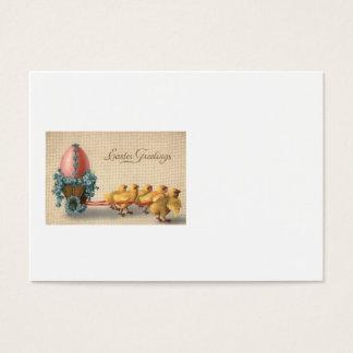 Ostern-Küken-Chariot farbiges Ei vergessen mich Visitenkarte