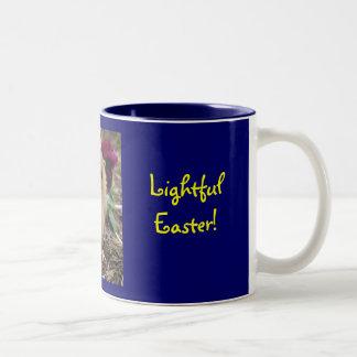 Ostern Küken-EIn-Dee-Licht Zweifarbige Tasse