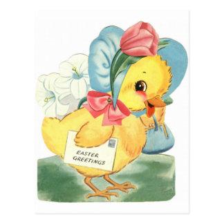 Ostern-Küken-Grüße Postkarte