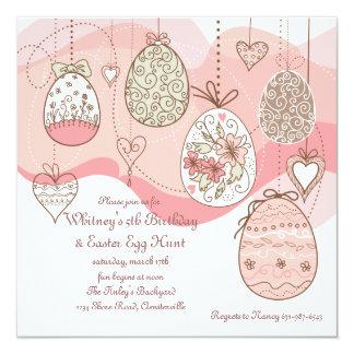 Ostern-Liebe-Einladung Quadratische 13,3 Cm Einladungskarte