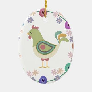 Ostern Ovales Keramik Ornament