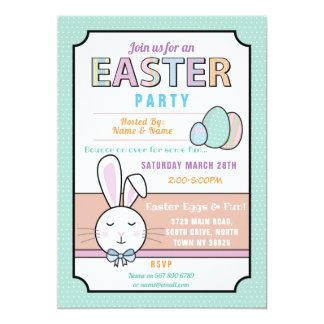 Ostern-Party-Häschen-Ei-Jagd-Einladungs-Minze Karte