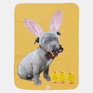 Ostern pitbull Welpe Babydecke