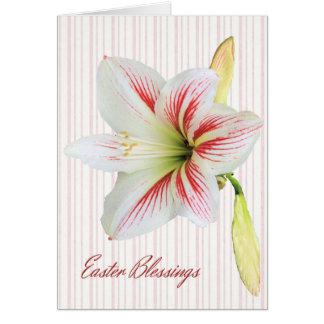 Ostern-Segen-Karte mit Lilie Karte