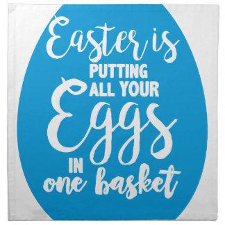 Ostern setzt alle Ihre Eier in einen Korb ein Stoffserviette