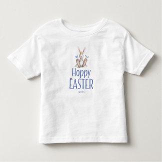 Ostern-Shirts für Kleinkind-Häschen blaues Kleinkinder T-shirt