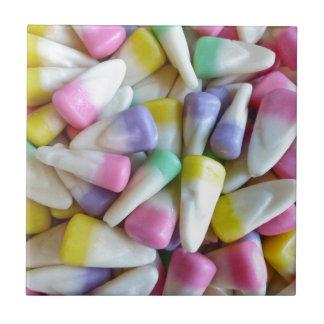 Ostern-Süßigkeits-Mais Kleine Quadratische Fliese