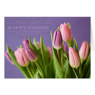 """Ostern - """"Tulpen"""" mit Wort-Kunst """"fröhlicher Karte"""