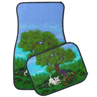 Ostern - Welpen-Capo und Schmetterling Autofußmatte