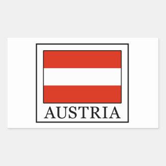 Österreich-Aufkleber Rechteckiger Aufkleber
