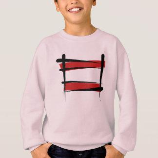 Österreich-Bürsten-Flagge Sweatshirt