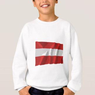 Österreich, das zivile Flagge wellenartig bewegt Sweatshirt