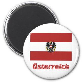 Österreich Dienstflagge MIT deutschem Namen Runder Magnet 5,1 Cm