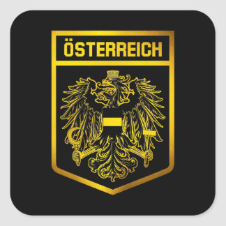Österreich-Emblem Quadrat-Aufkleber