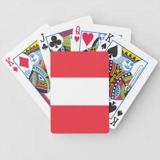 Österreich-Flagge Bicycle Spielkarten