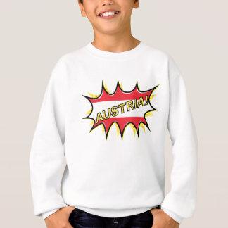 Österreich-Flagge Kapow Comic-Art-Stern Sweatshirt