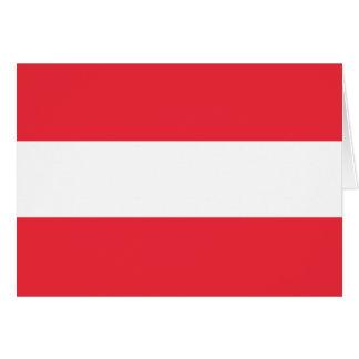 Österreich-Flagge Mitteilungskarte