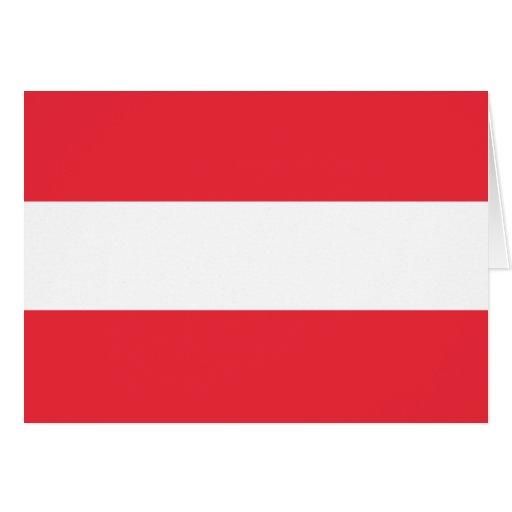 Österreich-Flagge Grußkarte