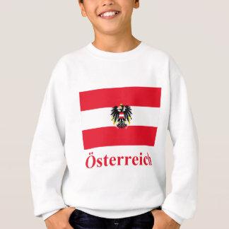 Österreich-Flagge mit Namen auf Deutsch Sweatshirt