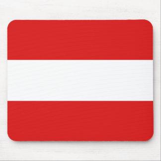 Österreich-Flagge Mousepad