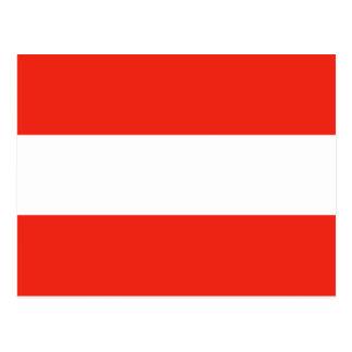 Österreich - Flagge/Österreich - Flagge Postkarte