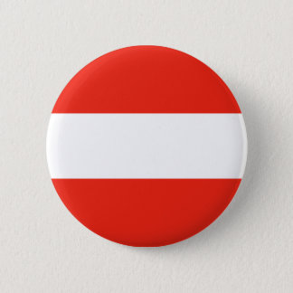 Österreich - Flagge/Österreich - Flagge Runder Button 5,1 Cm
