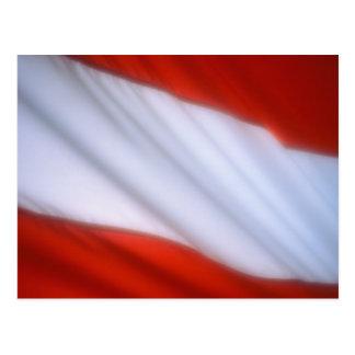 ÖSTERREICH-FLAGGE POSTKARTE