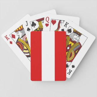 Österreich-Flagge Spielkarten