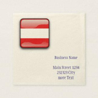 Österreich-Flagge Serviette