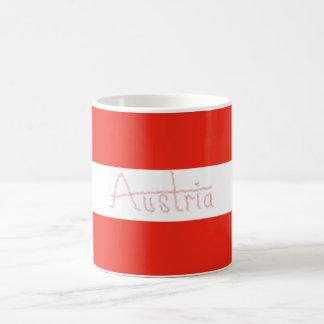 Österreich - Flagge und Skript Kaffeetasse