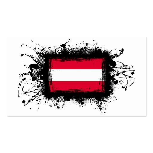 Österreich-Flagge Visitenkarten Vorlage