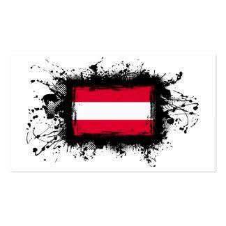 Österreich-Flagge Visitenkarten