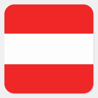 Österreich-Flaggen-Aufkleber Quadratischer Aufkleber
