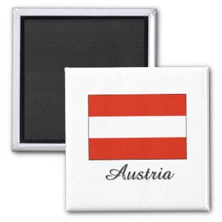 Österreich-Flaggen-Entwurf Quadratischer Magnet