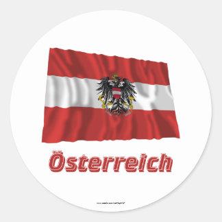 Österreich Fliegende Dienstflagge, deutscher Name Runder Aufkleber