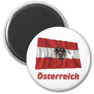 Österreich Fliegende Dienstflagge, deutscher Name Runder Magnet 5,1 Cm
