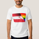 Österreich-Gay Pride-Regenbogen-Flagge Shirt