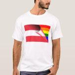 Österreich-Gay Pride-Regenbogen-Flagge T-Shirt