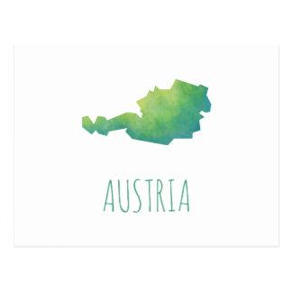 Österreich-Karte Postkarte
