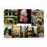 Österreich, Mozart, Plätze verband mit Mozart Postkarten