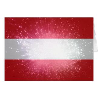 Österreich; Österreich Flagge Mitteilungskarte