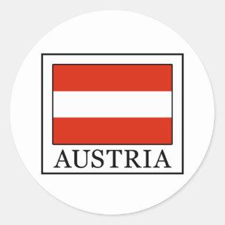 Österreich Runder Aufkleber